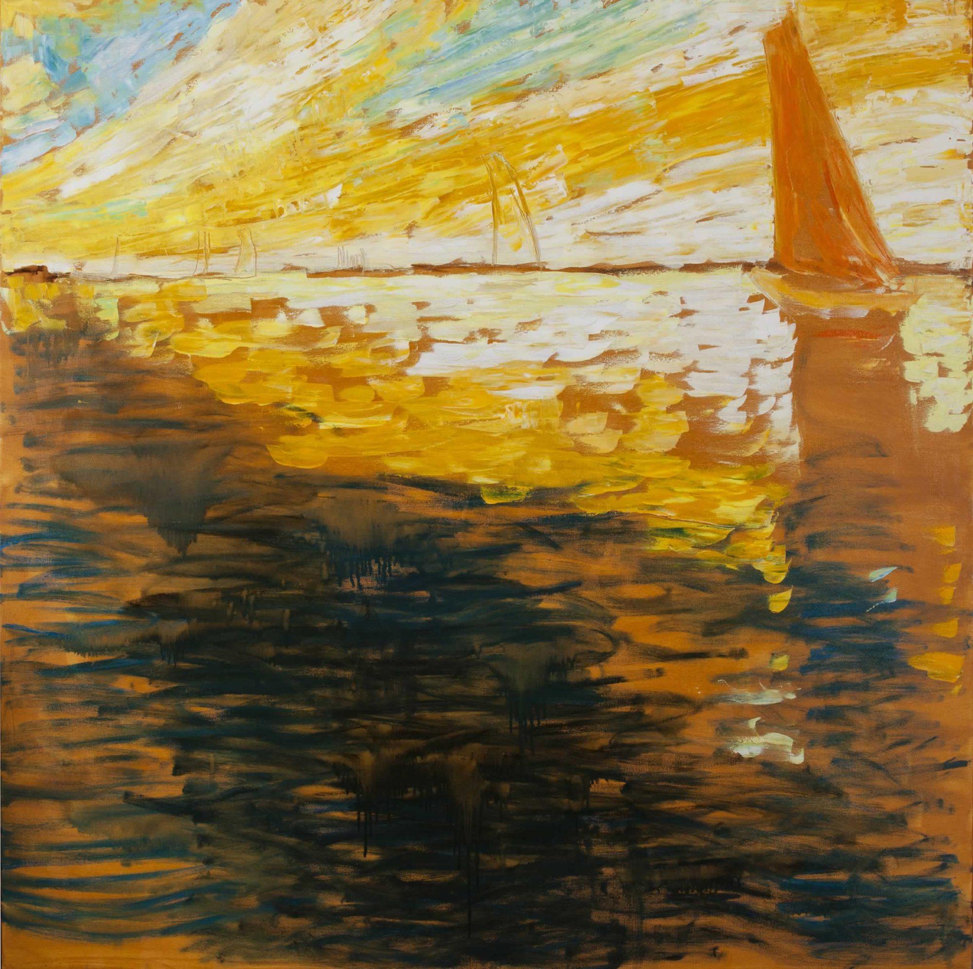 marina con velero