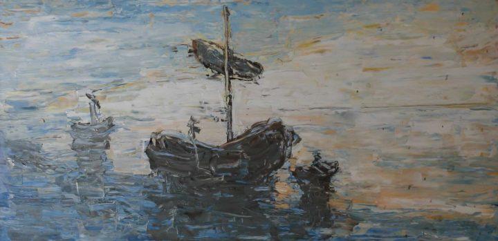 marine with ship