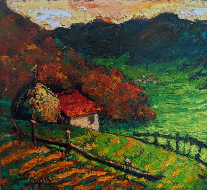 paisaje con huerto