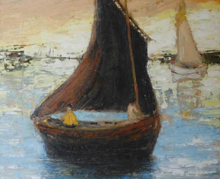 paisaje con veleros