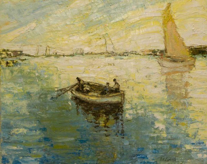 paisaje con pescadores