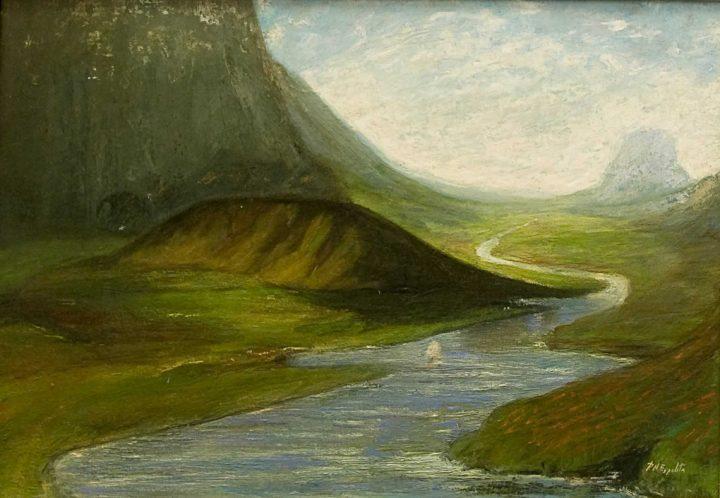 rio y montanas